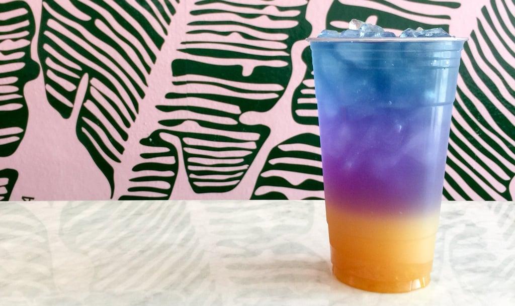 Orange Yuzu Rainbow Tea Drink