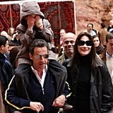 Right before they married, Carla Bruni, her son Aurelien, and Nicolas Sarkozy visit Jordan.