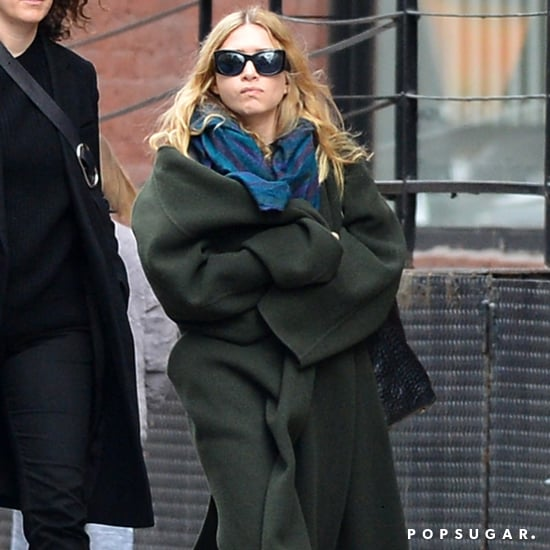 Ashley Olsen Wearing The Row Green Coat