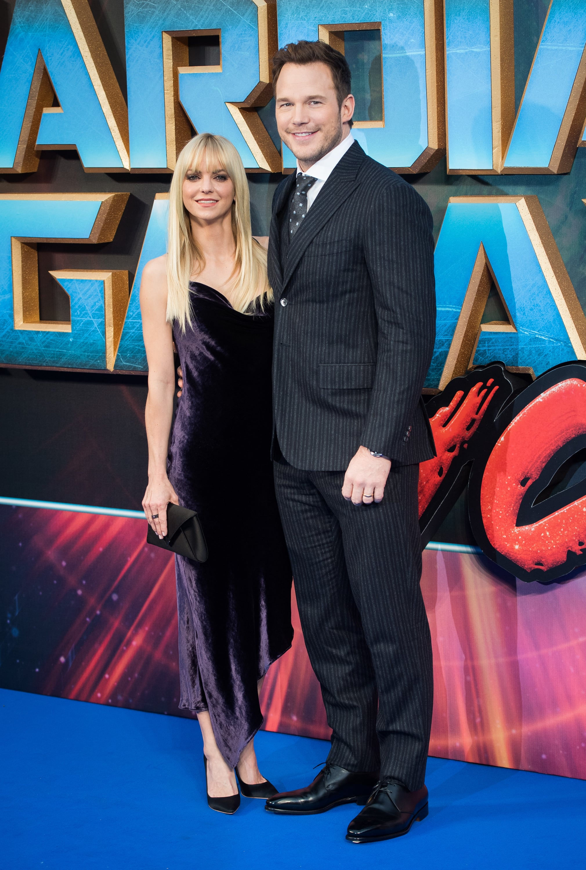 LONDON, ENGLAND - APRIL 24:  Chris Pratt and Anna Faris attend the European Gala Screening of