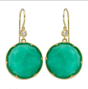 Irene Neuwirth Chrysoprase and Diamond Earrings