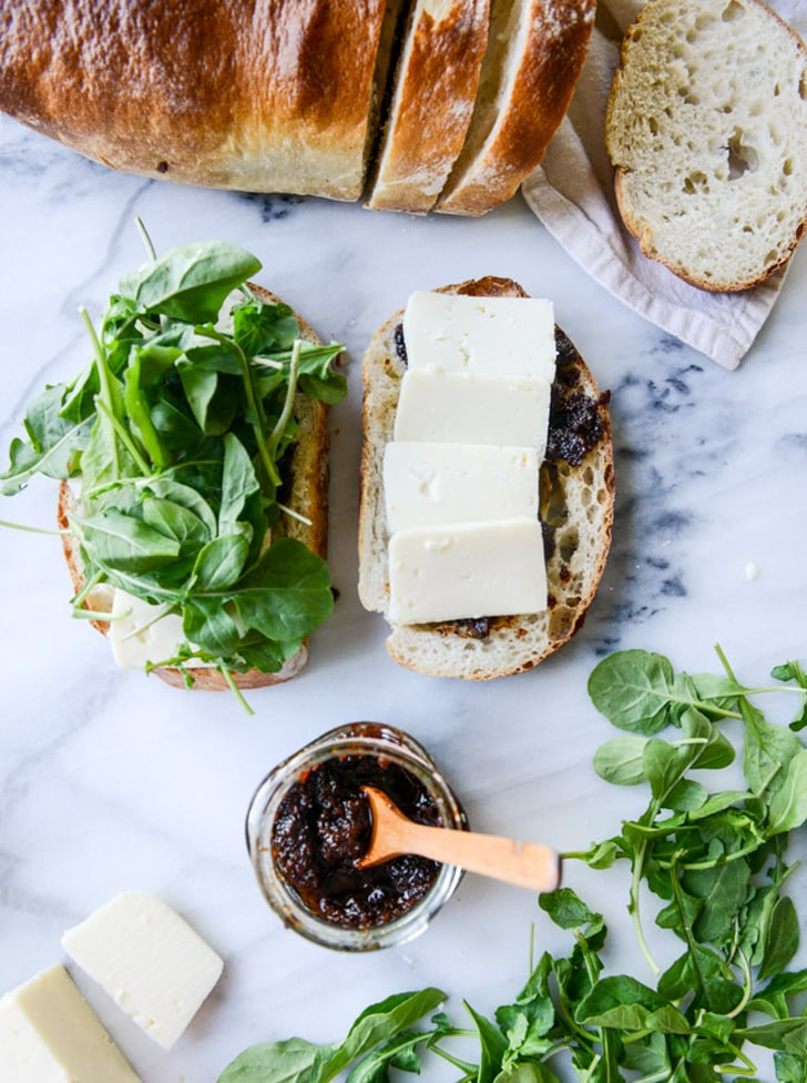 Havarti and Arugula Grilled Cheese With Bacon Jam and Herb Butter