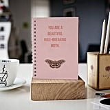 You Are a Beautiful Rule-Breaking Moth Lined Notebook