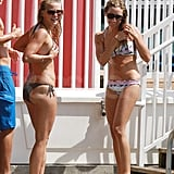 Julianne Hough and Ashley Tisdale in their bikinis.