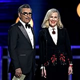 Eugene Levy and Catherine O'Hara at the 2019 Critics' Choice Awards