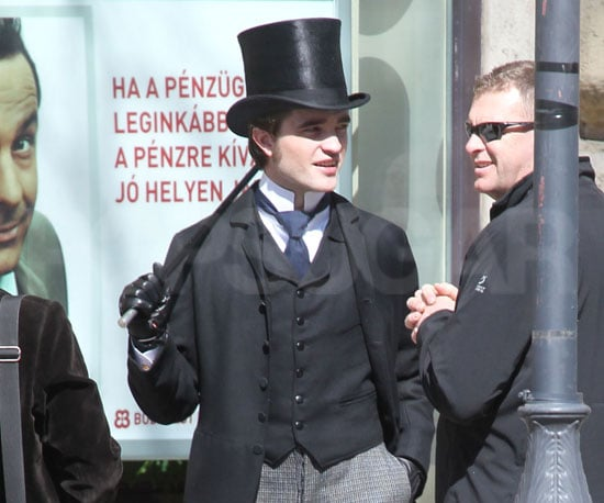 Slide Photo of Robert Pattinson Filming Bel Ami in Budapest