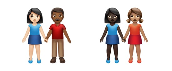 New Emoji For Different Skin Tones in Couples and Families