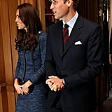 Kate Middleton and Prince William rose early for a reception.