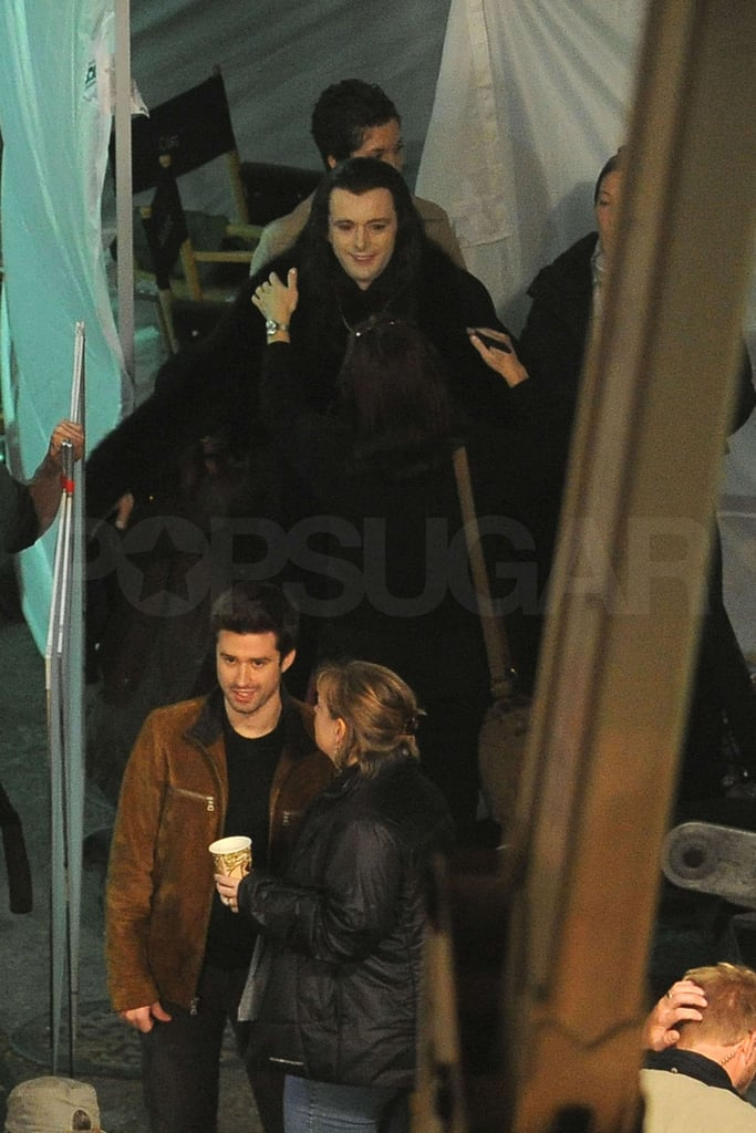 Pictures of Dakota Fanning, Michael Sheen, Jamie Campbell Bower and Cameron Bright Shooting Breaking Dawn