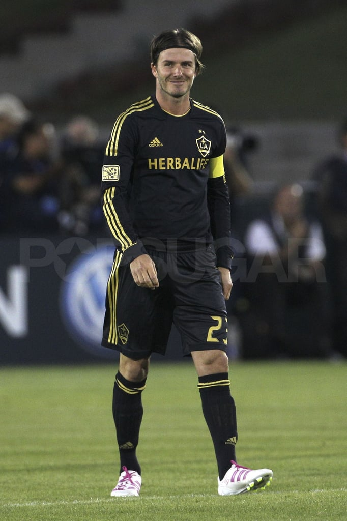 fd1d00e9a David Beckham Wears Soccer Cleats With Kids Names Pictures ...