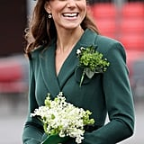 Kate Middleton wore green on St. Patrick's Day.