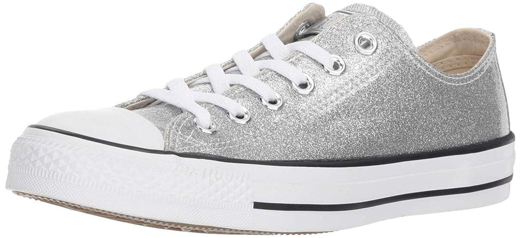 e21a5c8313b6 Converse Women s Chuck Taylor All Star Glitter Canvas Low Top Sneaker