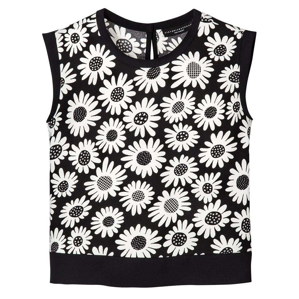Girls' Black Mini Daisy Printed Tank Top  ($15)