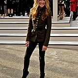 After a few years in the US, Cat Deeley began to make waves in the UK again this year. She attended the Burberry show in a military jacket and chatted to me at Matthew Williamson.
