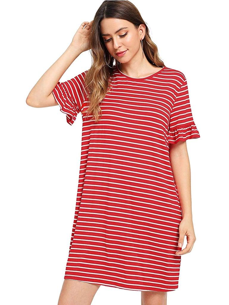 Floerns Striped T-Shirt Dress