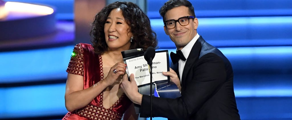 Sandra Oh Re-Creates La La Land Mistake at 2018 Emmys Video