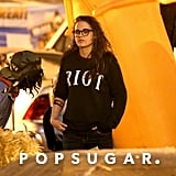 Kristen Stewart at a Pumpkin Patch in LA