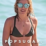 Katie Cassidy and Emily Bett Rickards at the Beach in Miami