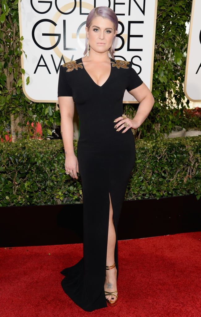 Kelly Osbourne made a serious statement on the Golden Globes red carpet.