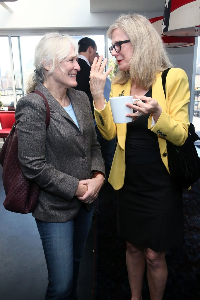 Glenn Close and Blythe Danner chatted at the Women's Filmmaker brunch.