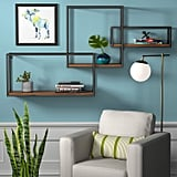 Rivet Contemporary Cubic Iron Three-Shelf Floating Unit