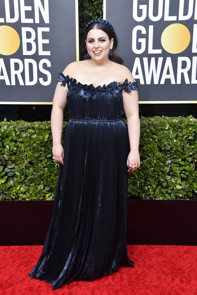 "Beanie Feldstein is living her best life at the Golden Globes. The 26-year-old Booksmart actress looked radiant as she stepped out on the red carpet wearing a blue gown and matching headband. It certainly was a big night for Beanie. Not only was she nominated for her first-ever Golden Globe award, but she's also shared the fun with her longtime best friend Ben Platt, who was up for best actor in a comedy or musical for Netflix's The Politician.  While walking the red carpet, Ben couldn't gush over Beanie. ""That's the more exciting one to me,"" he said about Beanie's nomination. ""I mean, I'm obviously very grateful that The Politician got included and I'm excited for my whole cast, but to hear about Beanie, that just kind of makes it feel like a whole new event and reality for me because I've known her since we were in braces."" Aww! See more photos of Beanie's big night ahead."
