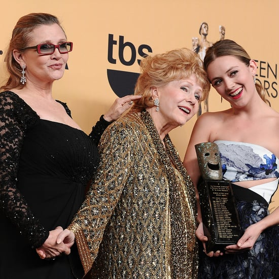 Billie Lourd, Carrie Fisher, Debbie Reynolds at SAG Awards