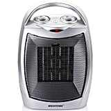 Brightown Quiet Ceramic Space Heater with Adjustable Thermostat