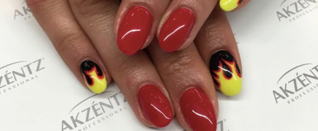 Re-Create Your '90s Skating Days With These Cool Flame Nails