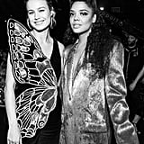Brie Larson and Tessa Thompson at the 2019 MTV Movie and TV Awards