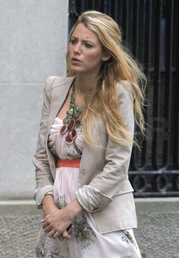 Blake Lively prepped to shoot new scenes for Gossip Girl.
