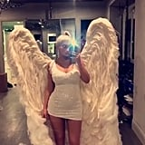 Kylie Jenner Dressed as an Angel in 2017