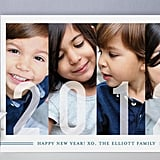 Frosted Windows New Year's Photo Cards ($1.74)