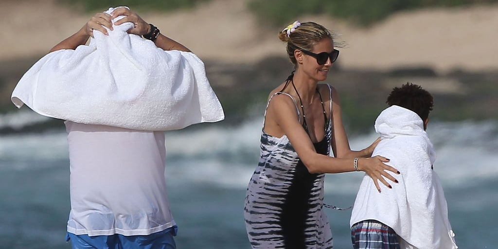 Heidi Klum on the Beach in Hawaii After Drowning Scare