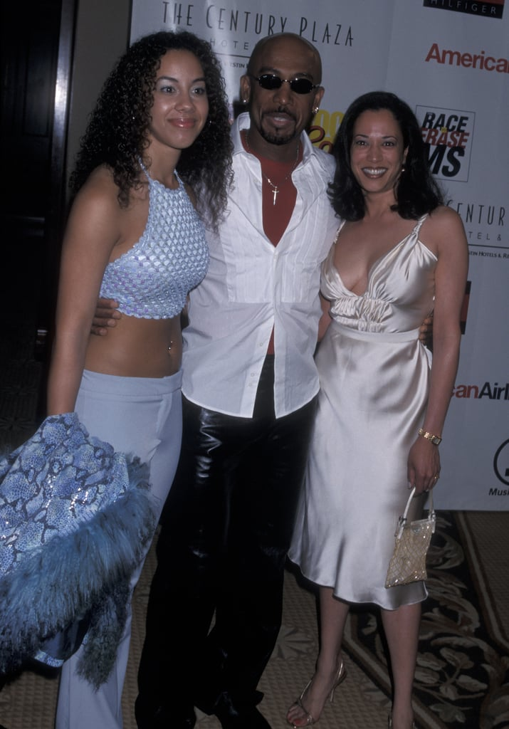 Kamala Harris's White Silk-Satin Midi Dress From 2001