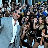 Dwayne Johnson and His Family at Ballers Premiere July 2016