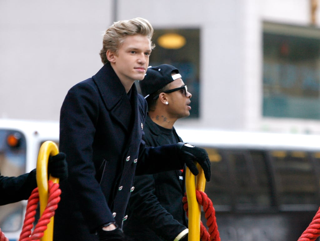 Cody Simpson prepared to perform at the 86th Annual Macy's Thanksgiving Day Parade.