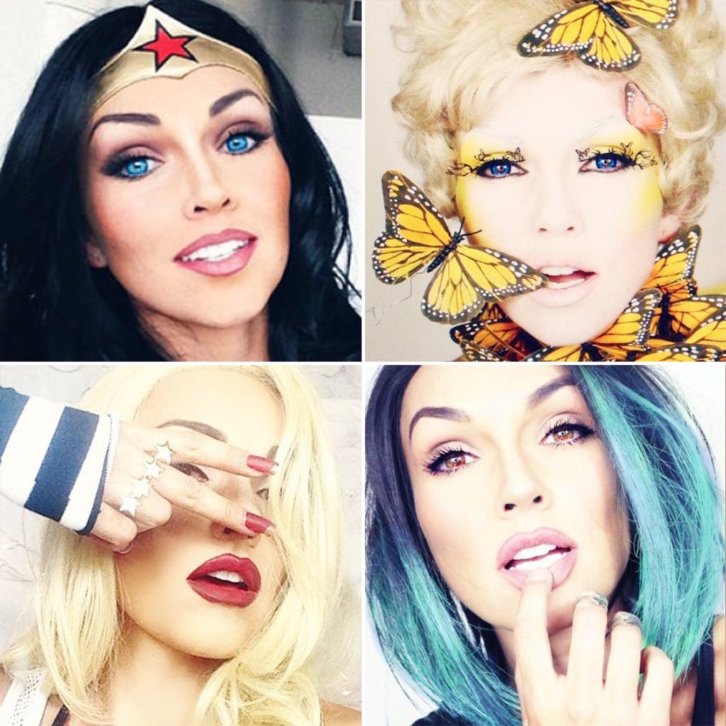 kandee johnson celebrity halloween makeup popsugar
