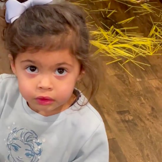 Dwayne Johnson's Daughter Blames Mess on Spaghetti Fairy