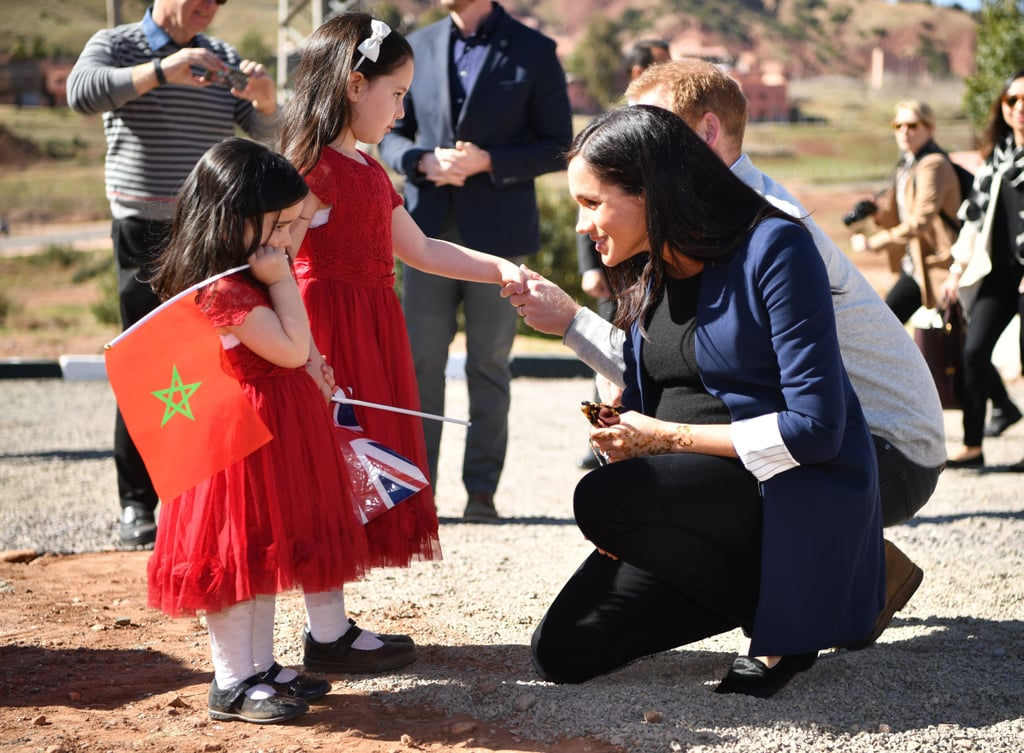 Prince Harry And Meghan Markle With Kids In Morocco