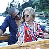 Bey and Jay Z chilled by the water at Lake Como in 2016.