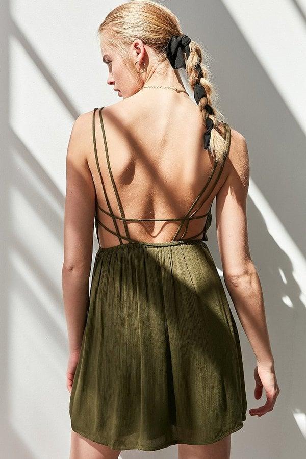 Ecote Strappy Surplice Fit + Flare Dress