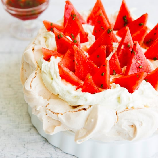 ​Spinneys' Watermelon Pavlova With Lime Cream and Mint Syrup