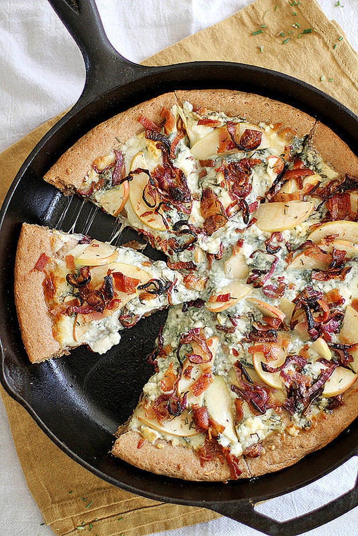 Caramelized Apple Bacon And Blue Cheese Pan Pizza Fast