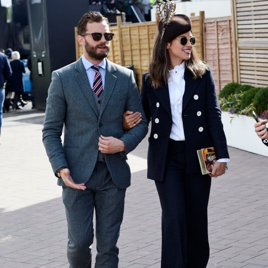 Jamie Dornan and His Wife at the Cheltenham Festival 2018