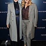 Malin Akerman and Abbie Cornish posed on their way into the Tommy Hilfiger show.