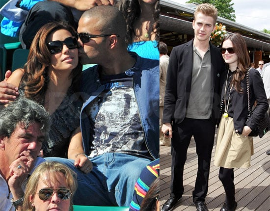 Photos of Eva Longoria, Tony Parker, Rachel Bilson, Hayden Christensen at the 2009 French Open in Paris