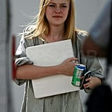 Photos of Dakota Fanning on Set and Out With Freddy Highmore