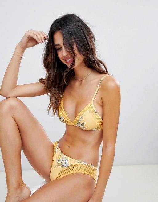 Seafolly Floral Fixed Triangle Bikini Top and Bottom Set