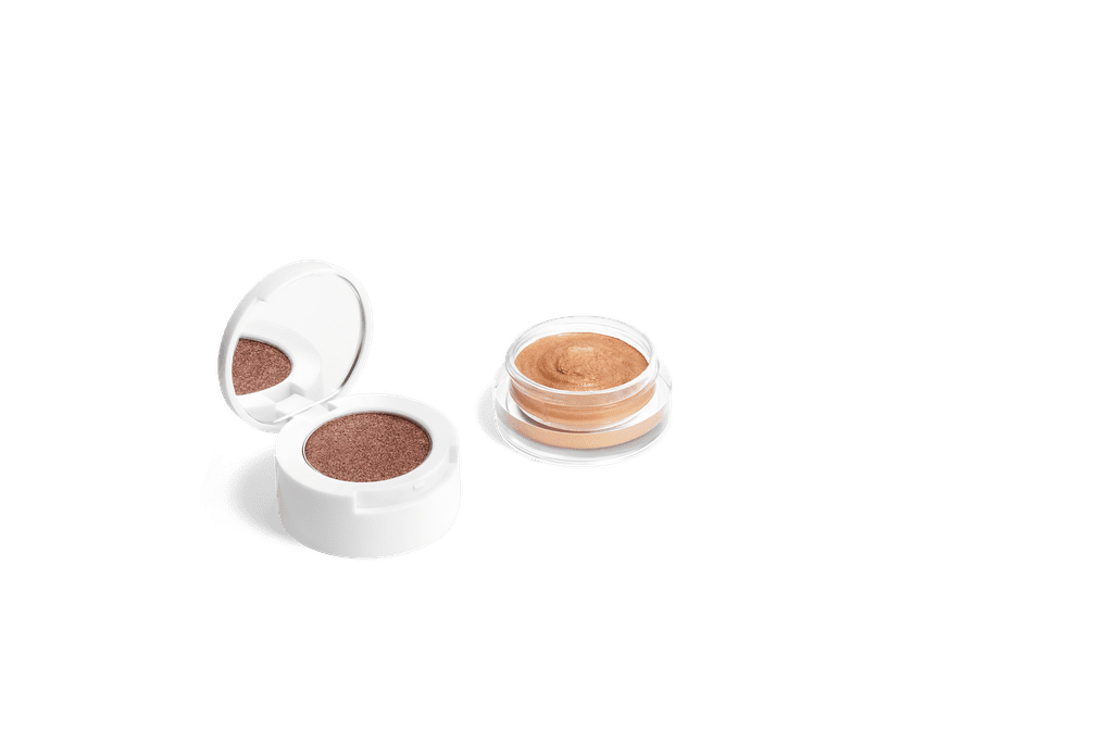 Becca x Chrissy Cravings Glow Soufflé Eye Shadow & Face Highlighter Duo in Cinnamon Churro